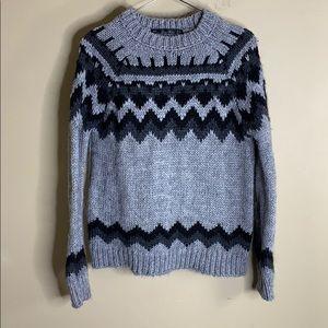 Zara knit crew neck sweater